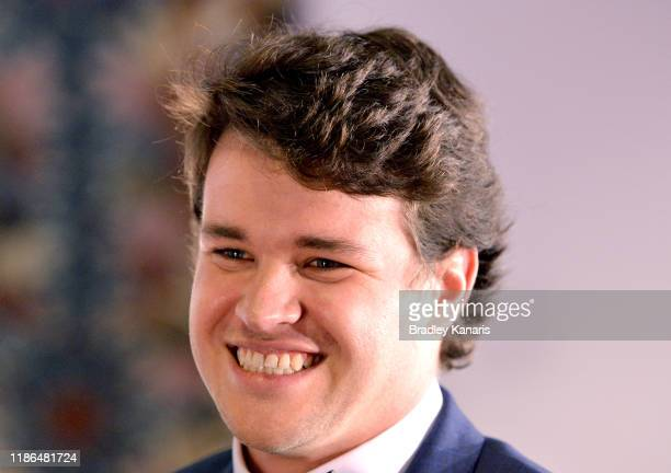 Chandler Powell partner of Bindi Irwin attends the annual Steve Irwin Gala Dinner at Brisbane Convention & Exhibition Centre on November 09, 2019 in...