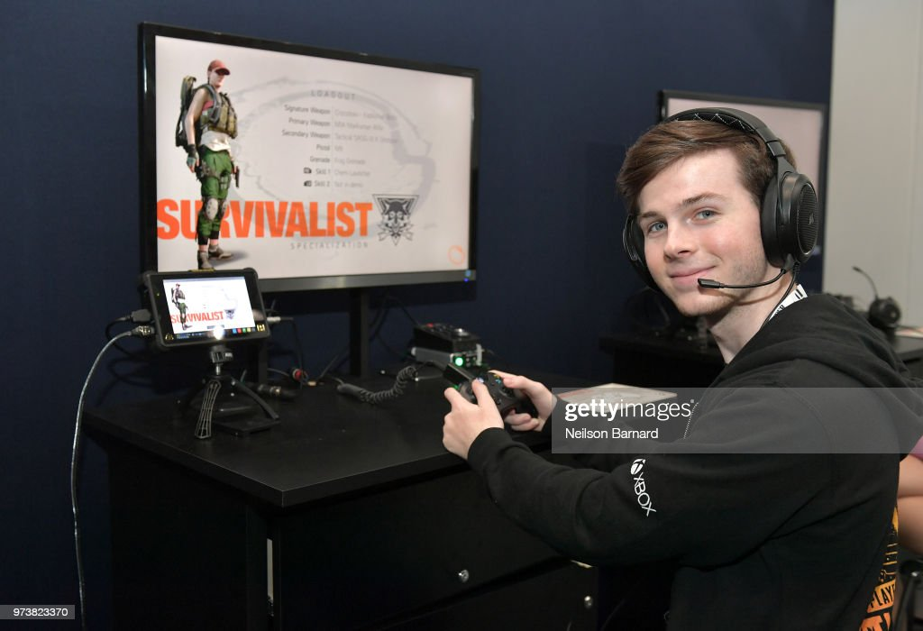Chandler Riggs playing Tom Clancy's The Division 2 during E3 2018 at Los Angeles Convention Center on June 13, 2018 in Los Angeles, California.