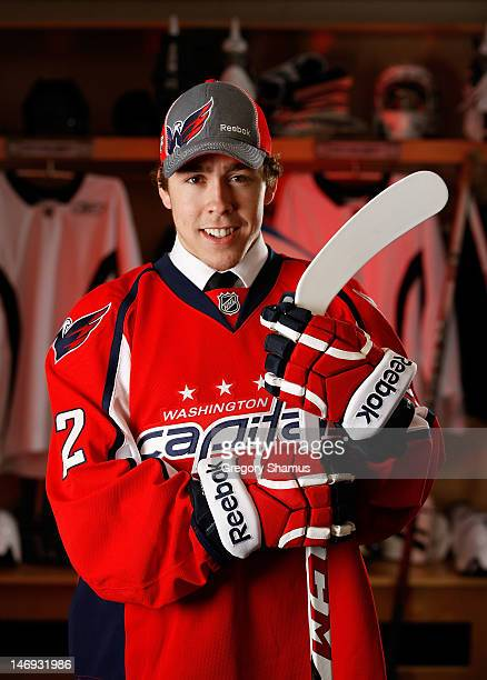 Chandler Stephenson 77th overall pick by the Washington Capitals poses for a portrait during the 2012 NHL Entry Draft at Consol Energy Center on June...