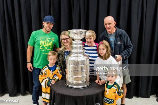 Chandler Stephenson Of The Washington Capitals poses for photos with fans at the Elgar Petersen Arena Stephenson brought the Stanley Cup to Humboldt...