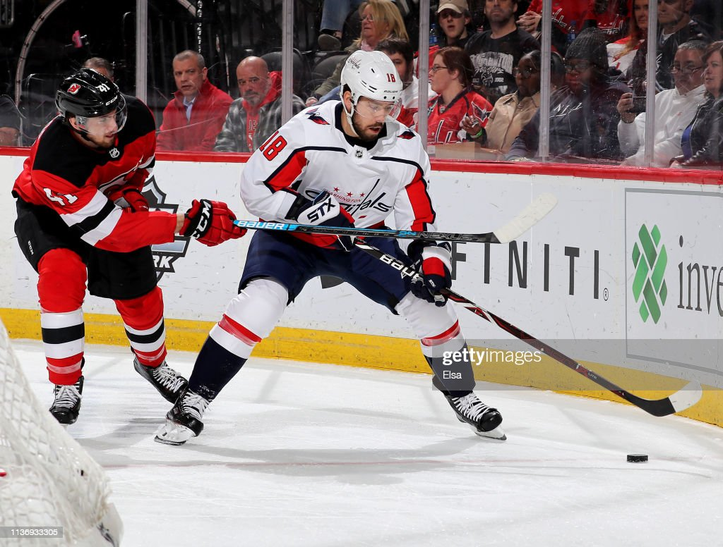 super popular 6c23f 4f5b3 Chandler Stephenson of the Washington Capitals tries to keep ...