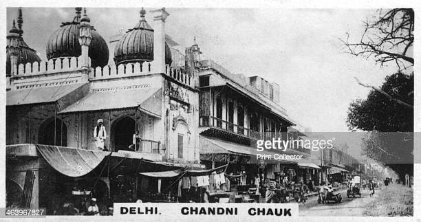 Chandni Chowk Delhi India c1925 Famous market Cigarette card produced by the Westminster Tobacco Co Ltd Indian Empire 1st series