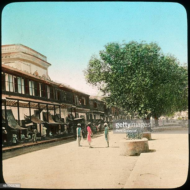 Chandni Chowk Delhi India late 19th or early 20th century The major street in the walled city of Old Delhi Chandni Chowk has been the site of a...