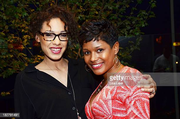Chandra Anderson and Lynette Townes attend Philadelphia Style Magazine's 12th Anniversary Party with cover star Kat Dennings at SugarHouse Casino on...