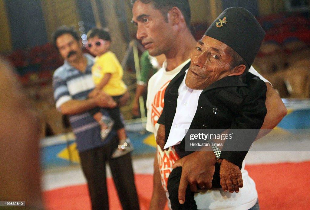 Shortest Man In The World Chandra Bahadur Dangi With Rambo Circus In Mumbai