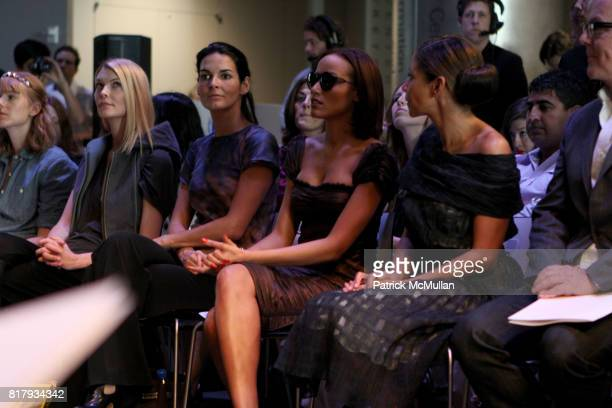 Chandra Johnson Angie Harmon and Selita Ebanks attend Christian Cota Spring 2011 Fashion Show at David Rubenstein Atrium NYC on September 11 2010