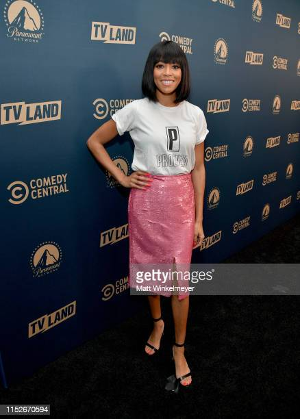 Chandra Russell from 'South Side' attends the Comedy Central, Paramount Network and TV Land summer press day at The London Hotel on May 30, 2019 in...