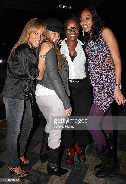 Chandra Spencer Capricorn Carline Balan and Sari Baez attend the 2008 Rocawear Christmas party at 1Oak on December 11 2008 in New York City