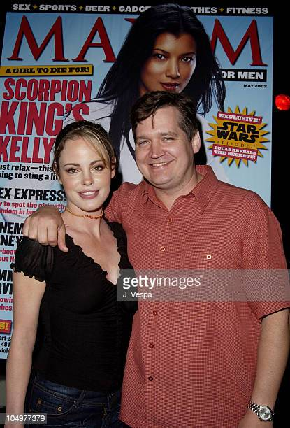 Chandra West and Keith Blanchard EditorinChief of Maxim