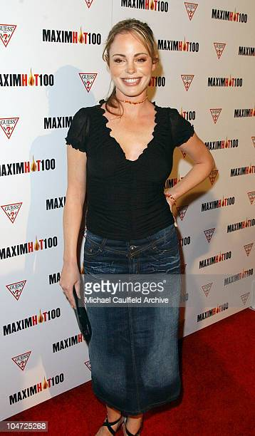 Chandra West during Maxim Hot 100 Party Arrivals at Yamashiro in Hollywood California United States