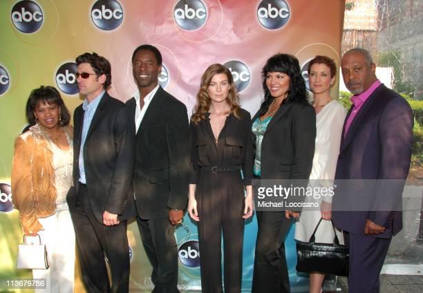 Chandra Wilson Patrick Dempsey Isaiah Washington Ellen Pompeo Sara Ramirez Kate Walsh and James Pickens Jr of Grey's Anatomy