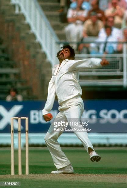 Chandrasekhar, England v India, 1st Test, Edgbaston, Jun 1979.