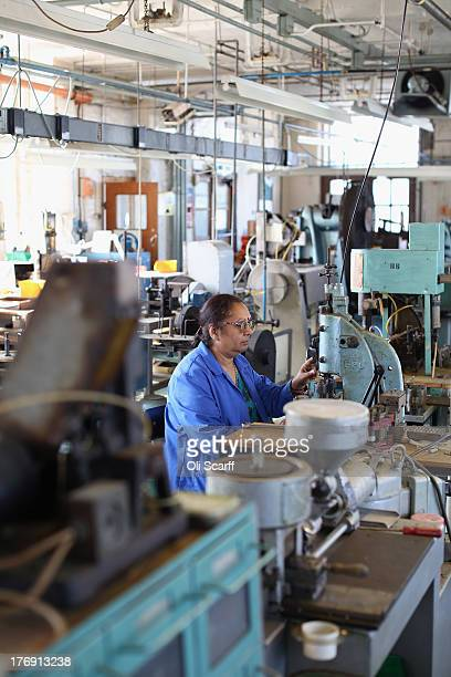 be6b8df4b9d Chandrika Pankhania an employee at Savile Row creates a pair of spectacles  in their factory in