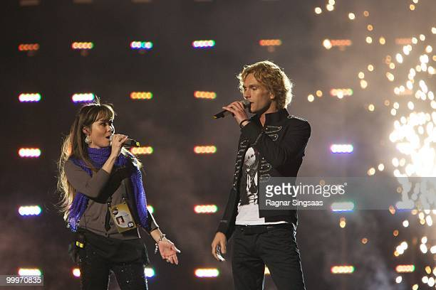 Chanee N'evergreen of Denmark perform at the open rehearsal at the Telenor Arena on May 18 2010 in Oslo Norway In all 39 countries will take part in...