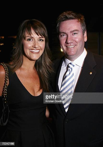 Chanel 9 CEO and Collingwood Magpies President Eddie McGuire and wife Carla McGuire attend The Australian Gourmet Traveller Restaurant Awards at...