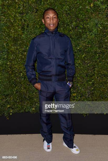 Chanel Ambassador Pharrell Williams attends the celebration of Chanel's Gabrielle Bag hosted by Caroline De Maigret and Pharrell Williams at Giorgio...