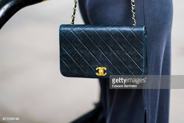 A Chanel bag is seen during London Fashion Week Men's June 2018 on June 09 2018 in London England
