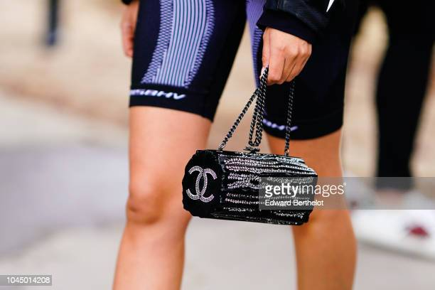 Chanel bag is seen outside Chanel during Paris Fashion Week Womenswear Spring/Summer 2019 on October 2 2018 in Paris France