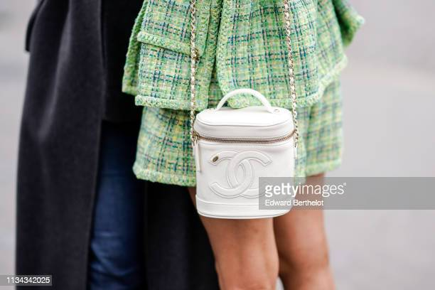 Chanel bag is seen outside Chanel during Paris Fashion Week Womenswear Fall/Winter 2019/2020 on March 05 2019 in Paris France