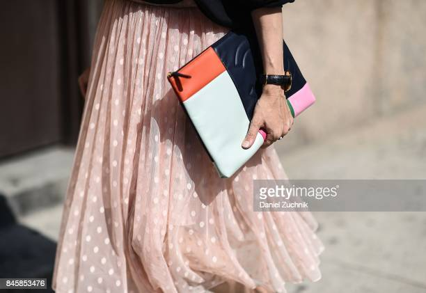 Chanel bag is seen outside the 3.1 Phillip Lim show during New York Fashion Week: Women's S/S 2018 on September 11, 2017 in New York City.