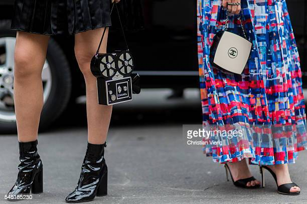 Chanel bags outside Chanel during Paris Fashion Week Haute Couture F/W 2016/2017 on July 5 2016 in Paris France