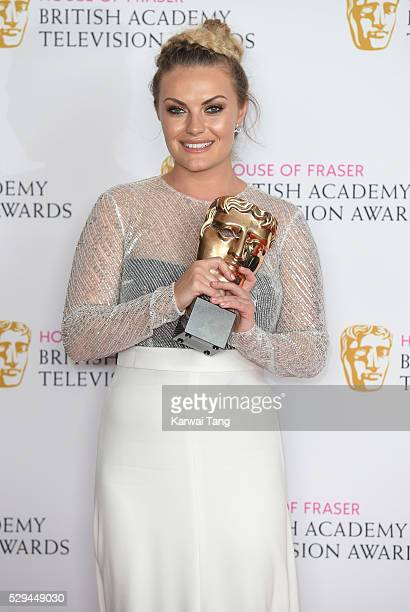 Chanel Cresswell winner of the Best Supporting Actress award for 'This Is England '90' poses in the winners room at the House Of Fraser British...