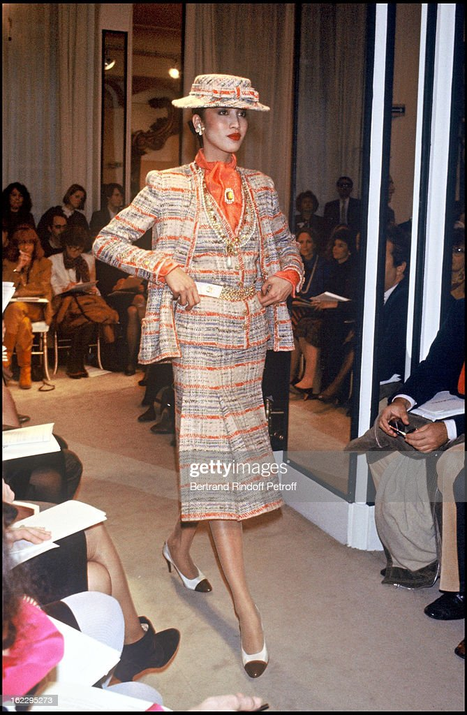 Chanel Haute Couture Collection, 1983 : News Photo