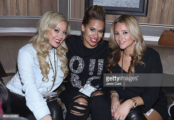 Chanel Fielder Amber Sabathia and Daniella Todd attends the Rn 1st Annual Roc City Classic Starring Kevin Durant x Kanye West on February 12 2015 in...