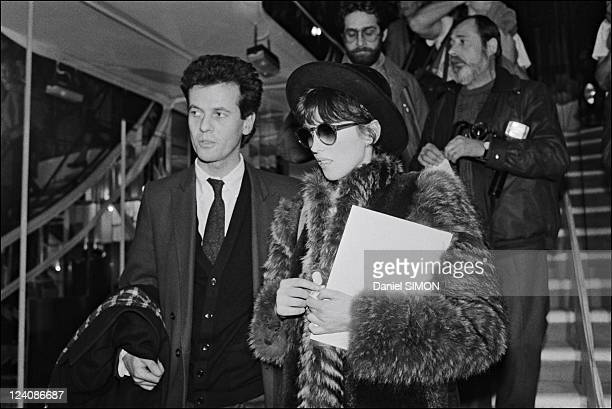 Chanel Haute Couture Spring Summer 83 show Adjani In Paris France On January 25 1983 Isabelle Adjani with Jacques Grange