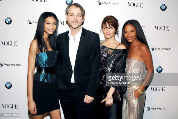 Chanel Iman Adrian Van Hooydonk Helena Christensen and Joy Bryant attend VOGUE and BMW party to celebrate the new 2009 BMW 7 Series with Free Arts...