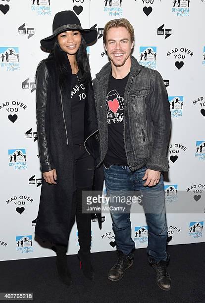 Chanel Iman and Derek Hough attend BronxWrites' BronxWide Poetry Slam 2015 at Joe's Pub on February 4 2015 in New York City