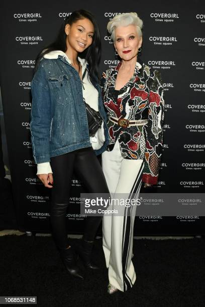 Chanel Iman and Maye Musk attend as COVERGIRL Opens The Doors To Their First Flagship Store An Experiential Makeup Playground on December 4 2018 in...