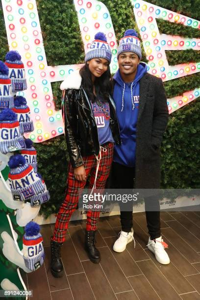Chanel Iman and Sterling Shephard kick off winter with New Era and Macy's at Macy's Herald Square on December 12 2017 in New York City