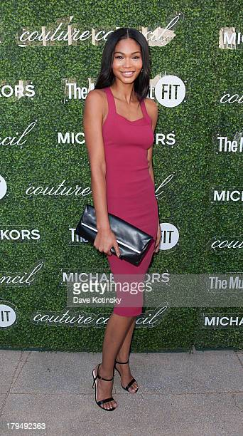 Chanel Iman attends 2013 Couture Council Fashion Visionary Awards at David H Koch Theater Lincoln Center on September 4 2013 in New York City