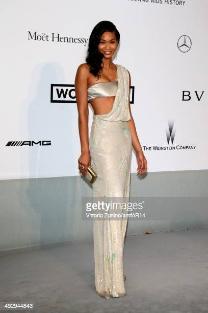 Chanel Iman attends amfAR's 21st Cinema Against AIDS Gala Presented By WORLDVIEW BOLD FILMS And BVLGARI at Hotel du CapEdenRoc on May 22 2014 in Cap...