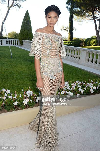 Chanel Iman attends amfAR's 23rd Cinema Against AIDS Gala at Hotel du CapEdenRoc on May 19 2016 in Cap d'Antibes France