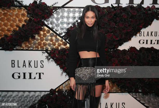 Chanel Iman attends as Giltcom and Chanel Iman host the exclusive US launch of BLAKUS handbags at the Zirkova House on February 5 2018 in New York...