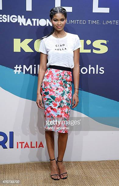 Chanel Iman attends Milly For DesigNation Collection Launch at Isola Trattoria Crudo Bar on April 22 2015 in New York City