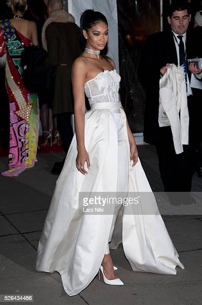 Chanel Iman attends the '2016 amfAR' New York Gala outside arrivals at Cipriani Wall Street in New York City �� LAN