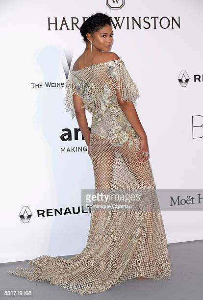 Chanel Iman attends the amfAR's 23rd Cinema Against AIDS Gala at Hotel du CapEdenRoc on May 19 2016 in Cap d'Antibes France
