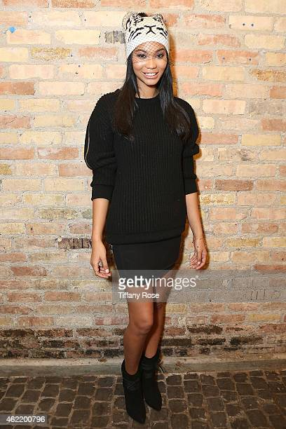 Chanel Iman attends the Birchbox Popup at Park City on January 25 2015 in Park City Utah
