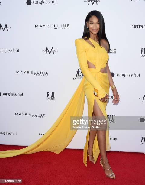 Chanel Iman attends The Daily Front Row's 5th Annual Fashion Los Angeles Awards at Beverly Hills Hotel on March 17 2019 in Beverly Hills California