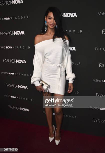 Chanel Iman attends the Fashion Nova x Cardi B Collaboration Launch Event at Boulevard3 on November 14 2018 in Hollywood California