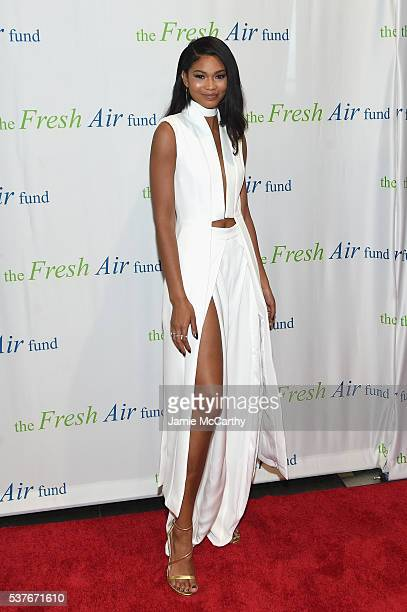 Chanel Iman attends the Fresh Air Fund 140th Birthday Celebration and 2016 Spring Benefit at Pier Sixty at Chelsea Piers on June 2 2016 in New York...