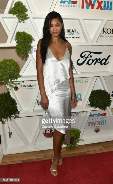 Chanel Iman attends the Gala Benefiting Irie Foundation on June 29 2017 in Miami Beach Florida