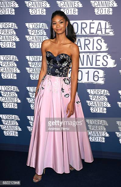 Chanel Iman attends the L'Oreal Party during the annual 69th Cannes Film Festival at on May 18 2016 in Cannes France