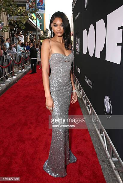Chanel Iman attends the Los Angeles Film Festival Premiere Of Open Road Films' Dope at Regal Cinemas LA Live on June 8 2015 in Los Angeles California