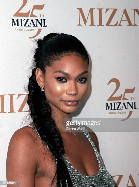 Chanel Iman attends the Mizani 25th Anniversary celebration and new styling collection at The Glasshouses on June 20 2016 in New York City