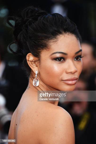 Chanel Iman attends the Premiere of 'Cleopatra' during the 66th Annual Cannes Film Festival at the Palais des Festivals on May 21, 2013 in Cannes,...