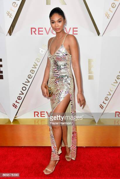 Chanel Iman attends the #REVOLVEawards at DREAM Hollywood on November 2 2017 in Hollywood California